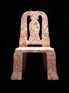 Robert Venturi, Queen Anne Chair with Grandma Pattern, for Knoll, 1984