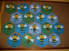 handprint bee craft | Crafts and Worksheets for Preschool,Toddler and Kindergarten