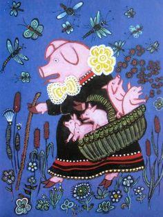 Illustration for Children Tales by Soviet Russian artist Yuri Vasnetsov