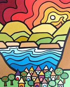 Summerland, Mini Canvas Print x Ready to Hang Zentangle, Canvas Art, Canvas Prints, Mini Canvas, Pen Design, Chart Design, Posca Art, Cubism Art, Happy Art