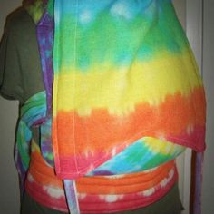 Tie Dyed and custom made Onesburg carrier. With rings adjustment. Make your own with #ehmiodesigns Ehmio Designs on Facebook.