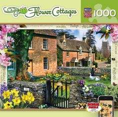 Flower Cottages - Tulip Cottage - 1000 Piece Jigsaw Puzzle