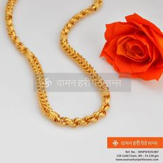 Checkout this new range of gold chains designed with intricate artistique which tastefully gives an ethnic look to your traditional attire. Mens Gold Bracelets, Mens Gold Jewelry, Fashion Bracelets, Bridal Jewelry, Fashion Jewelry, Gold Jewellery, Women's Bracelets, Chain Jewelry, Gold Chain Design