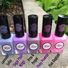 Stamping Polishes ~ pinks and purples ~ custom hand crafted nail polish by justricarda