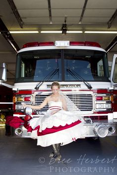 A firefighter -- who happens to also be the bride | Shared by LION