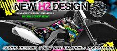 New H2 Designz graphics for #motocross #supercross #supermoto #enduro #motard