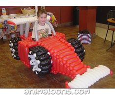 Race car by Adam's Animaloons Animal balloons