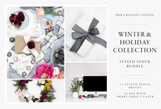 Love these Product Mockups #Graphics Winter Christmas Styled Stock Bundle—WINTER SALE * This styled stock bundle ( 72 Images + 10 PSD files!