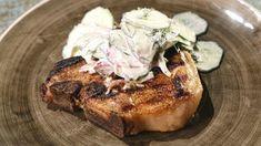 Pork T-Bones with Cucumber Salad Recipe | The Chew - ABC.com