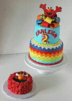Birthday smash cake for an Elmo lover Divinely Dolce Cakes