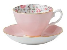 Rose Confetti, Royal Albert. Just one cup and saucer, for me, for those tea moments