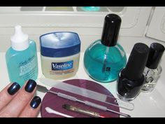 """At-home salon-grade manicure: video tutorial. I like her tip on """"pushing"""" polish back toward the cuticles; seems like a less-messy way to get the base of the nail."""