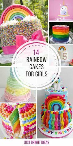 Awesome Image of Rainbow Birthday Cakes . Rainbow Birthday Cakes 14 Totally Magical Rainbow Birthday Cakes For Girls Rainbow Birthday Party, Birthday Cake Girls, Birthday Ideas, 5th Birthday, Summer Birthday, Birthday Cupcakes, Lollipop Cake, Cupcake Cakes, Blackberry Cake