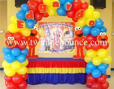 elmo sesame street balloon decoration
