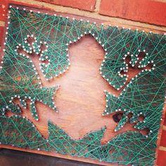 Custom String Art string around shape by MagnoliaDesignEE on Etsy