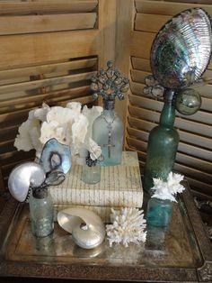 Sea life bottle art
