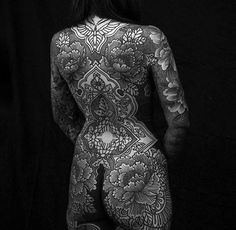 Left sleeve by Patrick Rouse, right sleeve by back of the thighs by back/body suit in progress by Informations About Left sleeve by Patrick Rouse, r Full Body Tattoo, Body Art Tattoos, Girl Tattoos, Tatoos, Gypsy Tattoos, Calf Tattoos, Sailor Tattoos, Spine Tattoos, Nature Tattoos