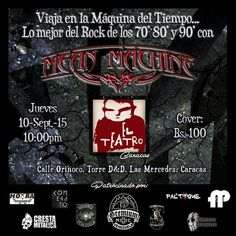"El Teatro Bar Caracas presenta: ""Mean Machine"" http://crestametalica.com/events/el-teatro-bar-caracas-presenta-mean-machine/ vía @crestametalica"