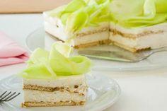 Τούρτα με πτι μπερ, κρέμα γιαουρτιού και πεπόνι - rockmelon cream fridge cake