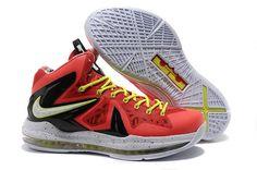 CHeap Lebron 10 X P.s. Elite+ Total Crimson Fiberglass Black Volt Shoes