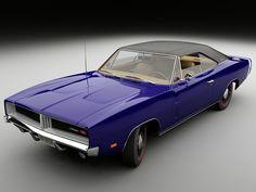 dodge charger 1969 blue
