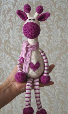 Hearty Giraffe Amigurumi Free Pattern to crochet from Amigurumi Today. Cute giraffe to crochet for free. Pattern More Patterns Like This!