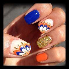 Blue, Orange & Gold