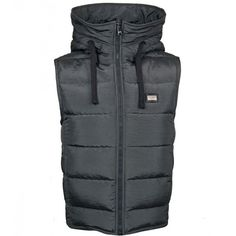 Dolce & Gabbana Dark Grey Down-Filled Hooded Gilet (5,435 EGP) ❤ liked on Polyvore featuring men's fashion, men's clothing, men's outerwear, men's vests, mens nylon vest, mens lightweight vest, mens hooded vest and mens insulated vest