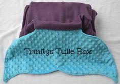 Custom Mermaid Tail Blanket Fleece Mermaid by TrinitysTulleBox