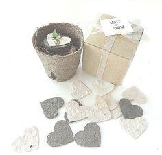 Vintage Wedding Favor Idea Flower Seed Heart Garden Gift Sets - Vintage Wedding Favors by Nature Favors