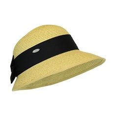 Natural Straw Packable Sun Hat with Black Sash- Wide Front Brim and Smaller Back - http://todays-shopping.xyz/2016/06/06/natural-straw-packable-sun-hat-with-black-sash-wide-front-brim-and-smaller-back/