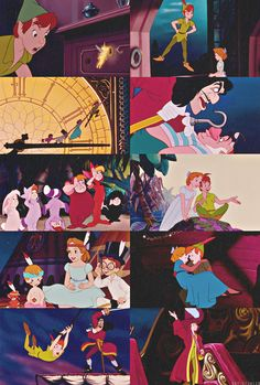 I love Peter Pan :) smee hook, Peter Pan,Wendy and her brothers, tiger lily,tink,London ,dreams, pirates,& the second star to the right,lost boys, you can fly ✨ never grow up!