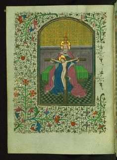 Throne of Grace  Text: Hours of the Holy Trinity: Matins - Book of Hours-Bruges-W246