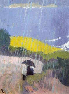Pluie en Bretagne (1889) by Maurice Denis (1870-1943), French (alongtimealone)