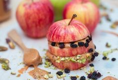 Apple Peanut Butter Sandwich | 28 Easy And Healthy Breakfasts You Can Eat On The Go