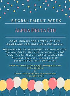 Sorority Recruitment - Alpha Delta Chi