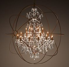 yes, this chandelier is ridiculous; but that's why it's so special.  a quirky marriage of modern and tranditional.