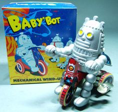 ✝☮✿★ ROBOT ✝☯★☮  Reproduction Baby Bot Robot On Trike