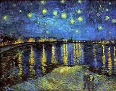 Vincent Van Gogh, Starry Night Over the Rhone, 1888.