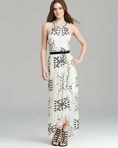 Twelfth Street by Cynthia Vincent Maxi Dress - Embroidered Silk | Bloomingdale's