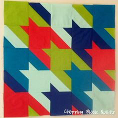 Napoleon's Plan Houndstooth Block | Chopping Block Quilts