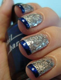 OPI Crown Me Already with Brucci Blue Sapphire tip