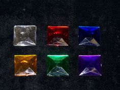 Plastic Flatback Faceted Square - 25mm - 1 Gross  ww.bergerbeads.net  $28.25