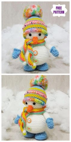 Crochet Amigurumi Snowman Free Crochet Patterns