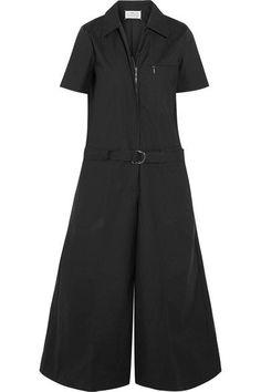 Maison Margiela - Coated Cotton-blend Poplin Jumpsuit - Black - IT40