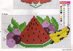 ARTESANATOS TRANSITÓRIA: ponto cruz - frutas