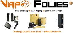 Box 200 watts avec TC #Hotcig #Evolv DNA 200 – 111.25€