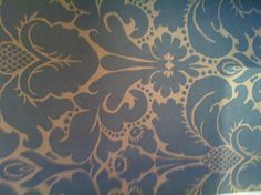 Wallpaper at the ballroom of star and garter  - pattern/colour for invites