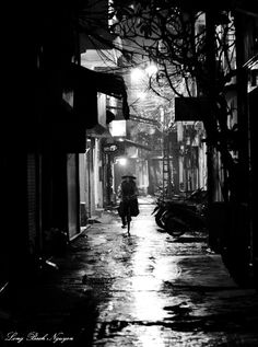 Such an amazing city, the nicest people.... But I was always wondering when John Rain would show up, on streets like this! Hanoi Old Quarter, Hanoi, Vietnam