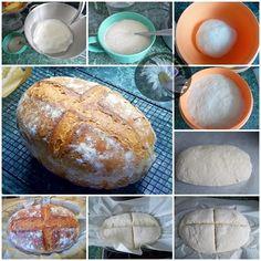 "Kulinarne Szaleństwa Margarytki: Chleb ""szwajcarski"" z garnka żeliwnego (pszenny na drożdżach) Bread Recipes, Vegetarian Recipes, Baking, Breads, Bread, Bread Rolls, Vegetarische Rezepte, Bakken, Backen"